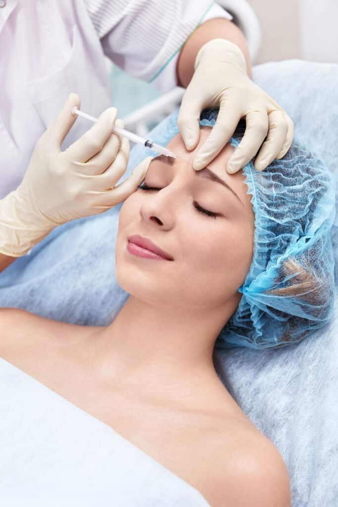 Picture of woman getting botox at Skintellect.